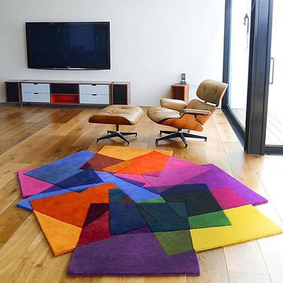 Творческий ковер ручной работы гостиной журнальный столик образный коврик ковров цвет ковер мода личности в форме ковер купить на AliExpress