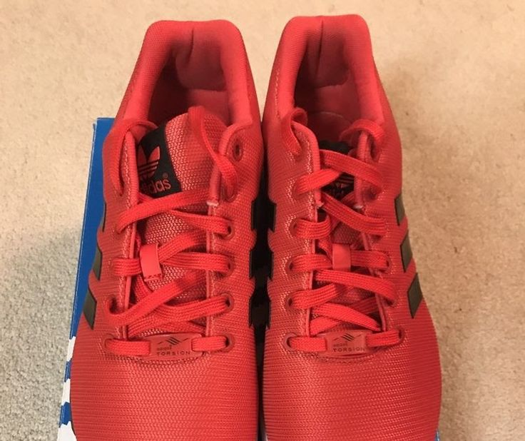 Men's Adidas Zx Flux RED RUNNING SHOES SIZE 10