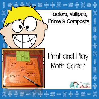Do your fourth or fifth graders struggle to keep factors and multiples straight? Need a little more work on identifying prime and composite numbers. These are important vocabulary words in fourth and fifth grade math class and it always seems like kids need a little more practice with them.