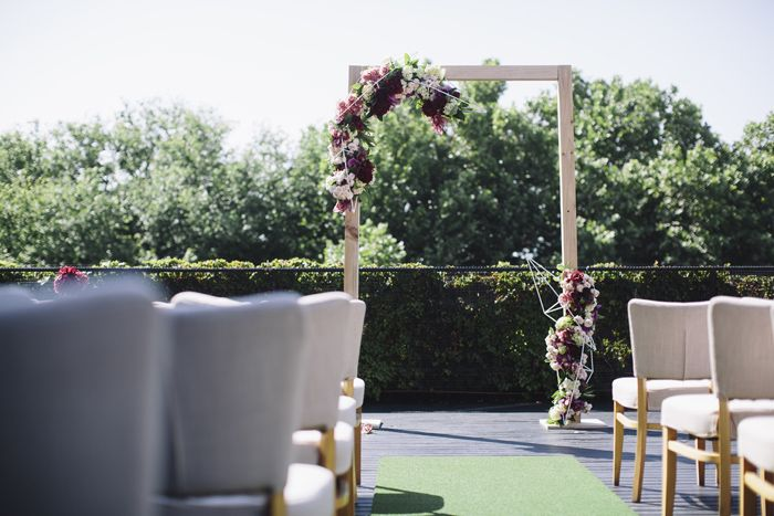 #Wedding #styling #weddingflowers #arch #weddingarch, inspiration, greenery,  Styling by The Style Co, Melbourne, Circa, , shoes, photography by Leo Farrell, venue Circa the Deck St Kilda