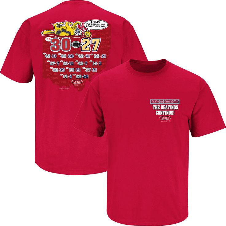 Ohio State Buckeyes Fans. Memo To Michigan: The Beatings Continue! T-Shirt