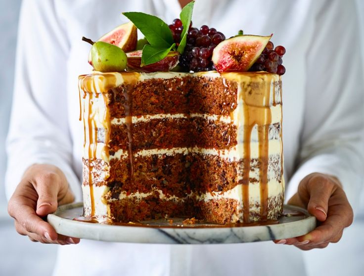 Naked Carrot, Chocolate and Walnut Cake with Caramel Sauce | Harvey Norman