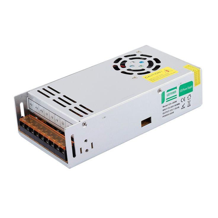 Liqoo® 400W DC 12V 33,4A LED Netzteil Treiber Trafo Transformator Netzgerät für Leuchmittel Streifen 200 x 98 x 48mm: Amazon.de: Beleuchtung