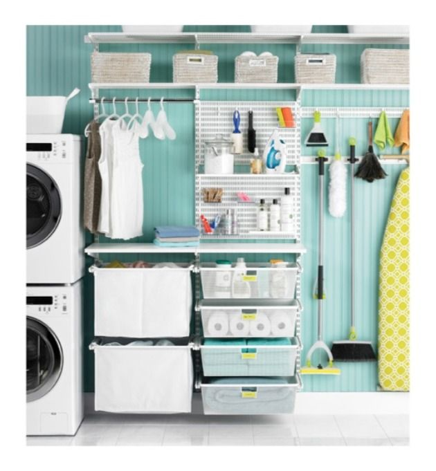 Here are some great tips and tricks on home organization!  Time to #organize that laundry room.