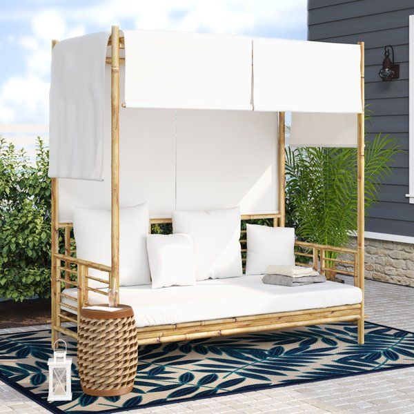 Aubrie Patio Daybed With Cushions Patio Daybed Daybed Canopy