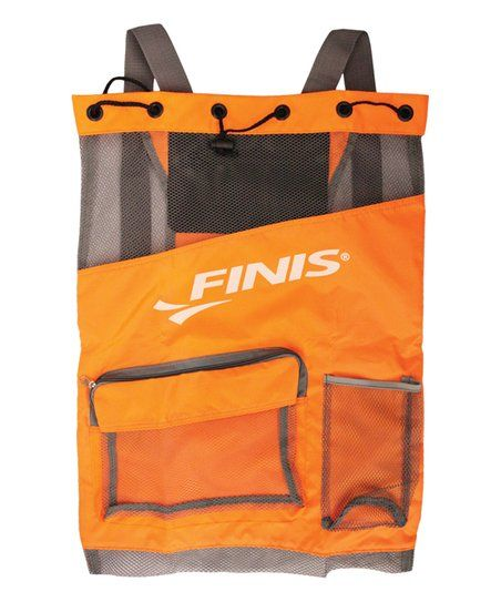 FINIS Neon Orange & Gray Ultra Mesh Backpack   zulily