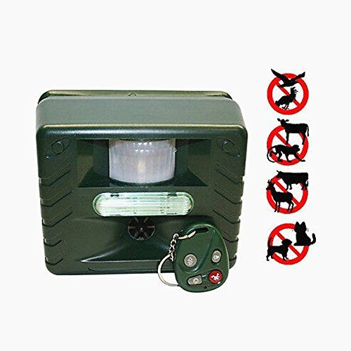 Best price on MINS - Ultrasonic Animal Pest Bird Control Repeller with Motion Detector, Strobe & Intruder Alarm - Powerful Ultrasonic Scare Bird pigeon Repeller / Electronic Animal Pest Control (Ultrasonic Scare Repeller)  See details here: http://allforpetsshop.com/product/mins-ultrasonic-animal-pest-bird-control-repeller-with-motion-detector-strobe-intruder-alarm-powerful-ultrasonic-scare-bird-pigeon-repeller-electronic-animal-pest-control-ultrasonic-scare-re/    Truly the best deal for…