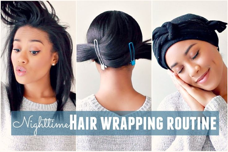 Nighttime Hair Wrapping Routine [Video] - http://community.blackhairinformation.com/video-gallery/relaxed-hair-videos/nighttime-hair-wrapping-routine-video/
