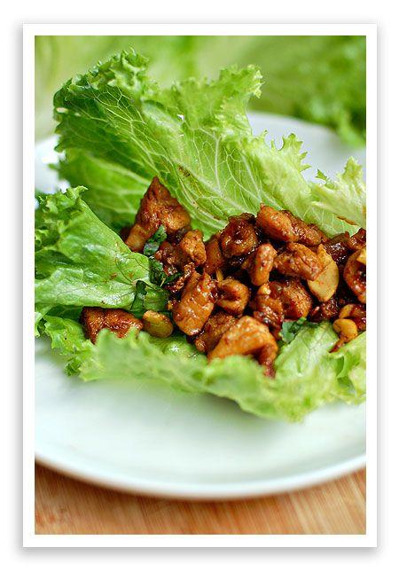 Chicken Cashew Lettuce Wraps by shewearsmanyhats #Chicken #Lettuce_Wraps #shewearsmanyhats