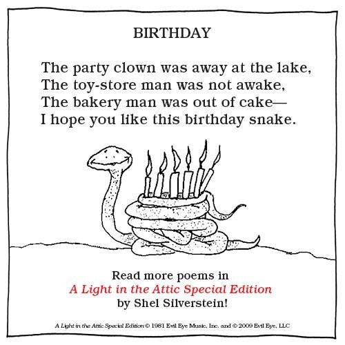 52 Best Happy Birthday Poems: 52 Best Images About Shel Silverstein On Pinterest