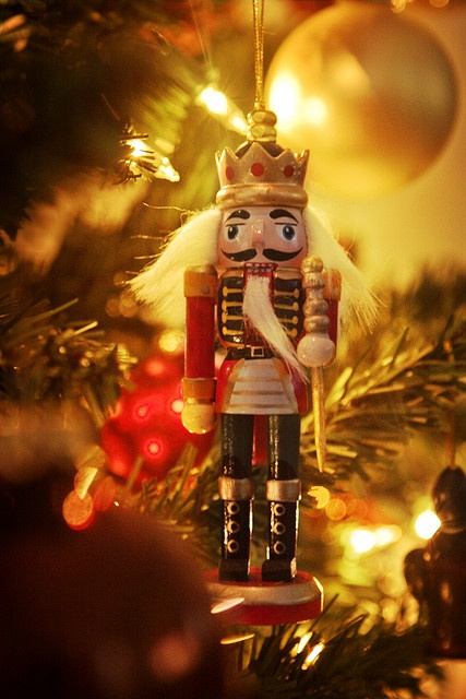 Nutcrackers are so creepy and mysterious...a little collection under the tree would be awesome :)