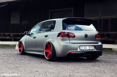 Stanced Volkwagen Golf GTI (3) I figured josh would like this!