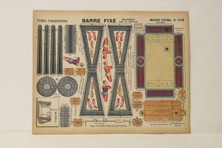 Pellerin Imagerie D'Epinal-# 1176 Barre Fixe P. vintage paper model