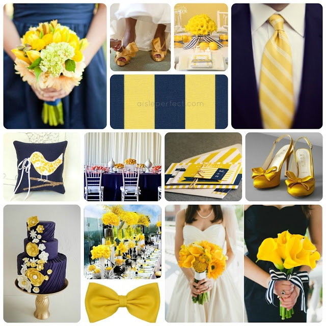 Navy Yellow Wedding Inspiration Board Wedding Wedding Navy