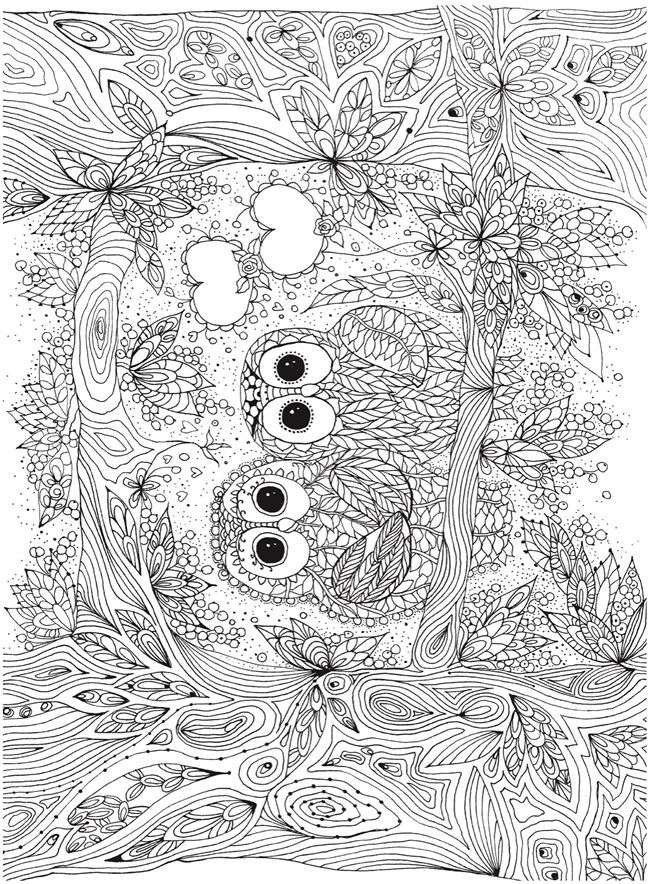 Owl Fall Printable Coloring Pages