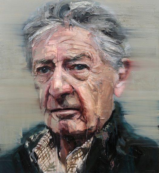 Colin Davidson...........Portrait of James Ellis  2013 oil on linen 127 x 117 cm