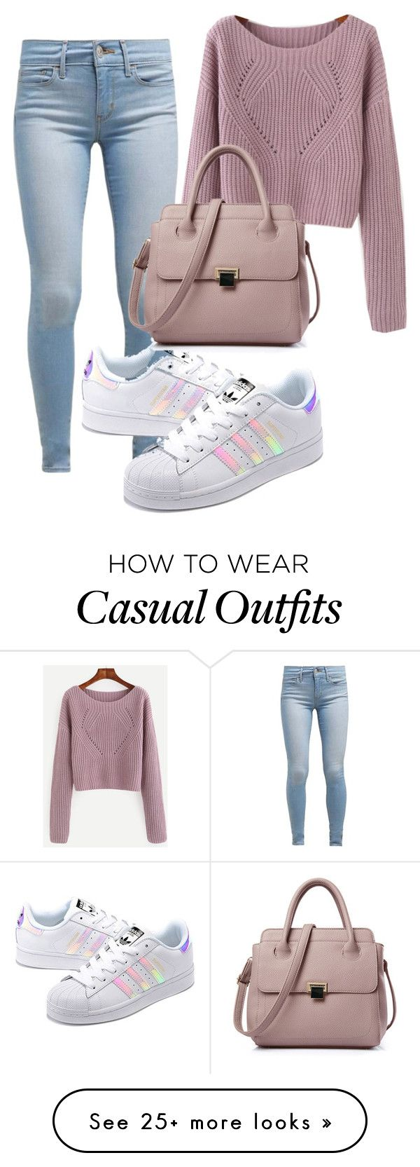 Casually shopping  by gnatalia on Polyvore featuring Levis and adidas Originals