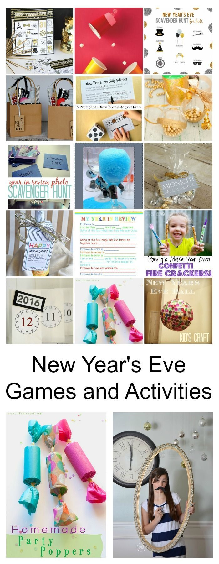 New Year's Eve | These New Years Eve Party Games are a great way to ring in the New Year. Great for families or grown ups.