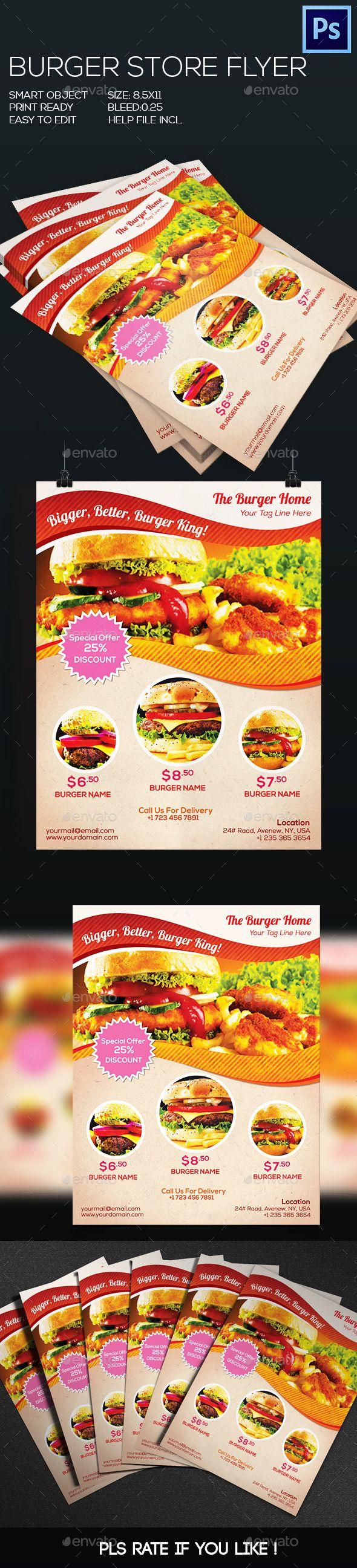 Best Burger Flyer Images On   Flyer Design Flyer