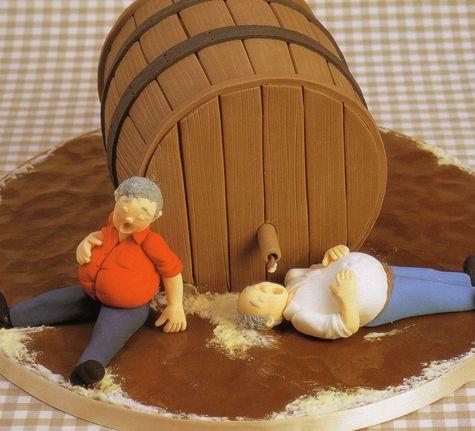 Bira göbeğinin nasıl olacağını öğrenmek isteyenlere özel pasta :)