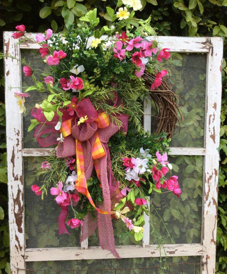 Double Door Wreath Wild Flower Mothers Day By Keleas 6999