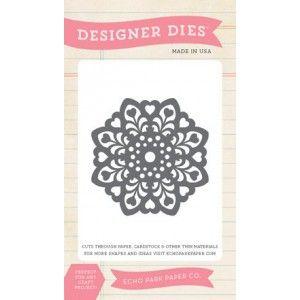 Vágósablon JJG81031, Designer Dies / Heart Doily Die -  (1 csomag)