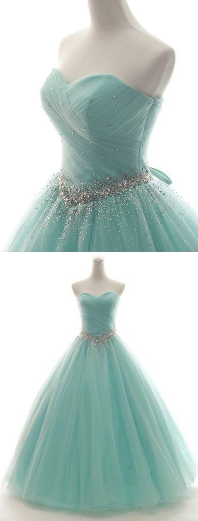 Elegant Sweetheart Neck Tulle Quinceanera Dresses, Lace up Ball Gown Prom Dress