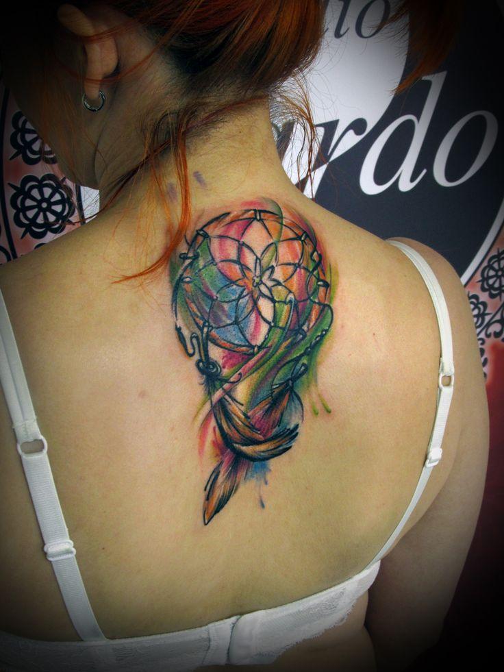 #tattoo #tattooartist #ink #inked #color #colortattoo #dreamcatcher #studio #bardo #studiobardo