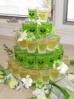 Wedding Shot Glasses ~ St. Patrick's Day #reception