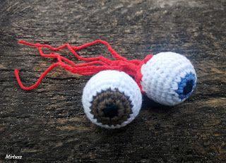 Horgolt szemgolyó  Mirtusz : Cicajátékok - Halloween