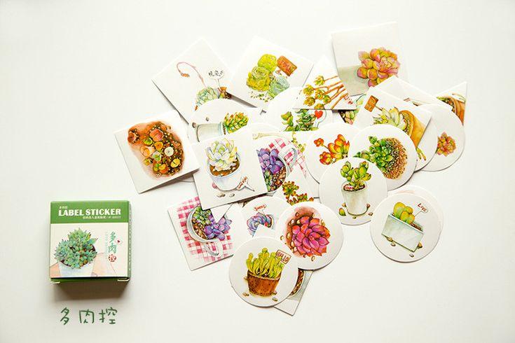 Растение в горшке 40 шт./пакет DIY каваи записки бумаги этикетку наклейки ремесла декоративные наклейки для украшения дома милые канцелярские купить на AliExpress