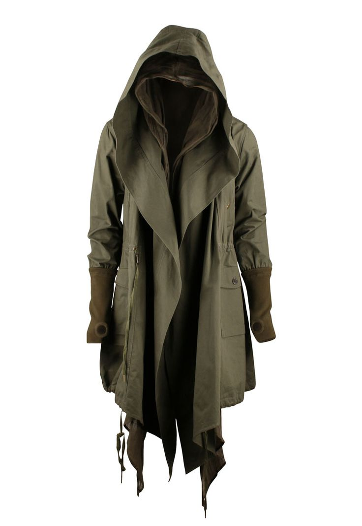this, this postapocalyptic WWI, trench coat hoodie jedi robe thing. I want it.