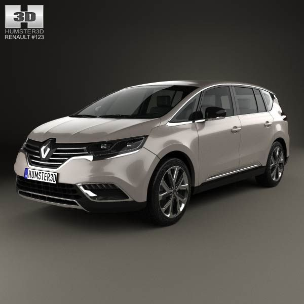 renault espace 2015 3d model from price 75 renault 3d models pinterest cars. Black Bedroom Furniture Sets. Home Design Ideas
