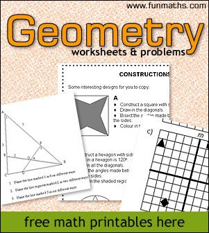 These Geometry worksheets & problems are great for those needing some extra practice or review. :: www.thriftyhomeschoolers.com