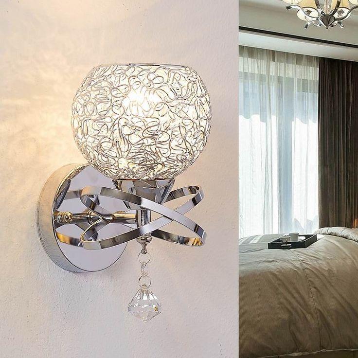 pas cher style moderne lampe lampes de mur de chevet chambre lampe d 39 escalier de cristal. Black Bedroom Furniture Sets. Home Design Ideas