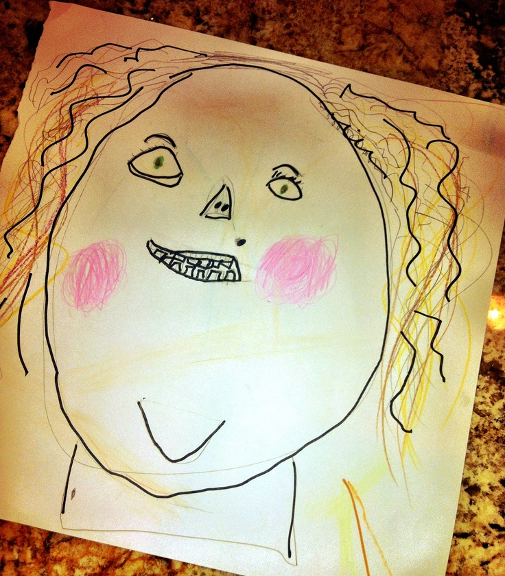 Why you should never let your children draw pictures of you