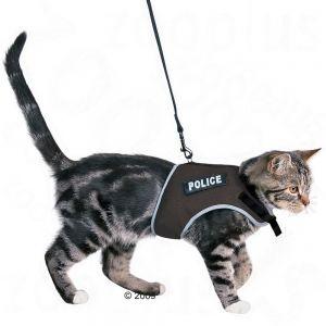 "Cat harness ""police"""