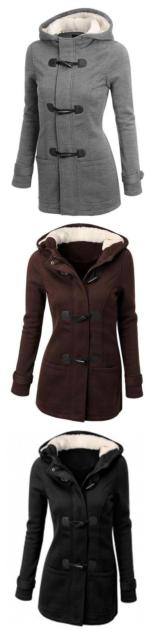 Button Fleece Coat || 41.99 || Cup She
