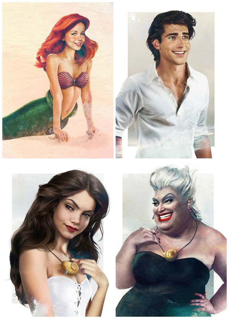 The Little Mermaid as real life characters by Jirka Väätäinen Design: Ariel, Prince Erik, Vanessa, and Ursula