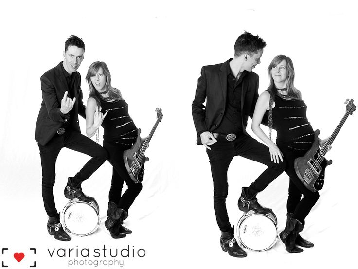 Fun Rock and Roll Toronto Maternity Photography by Varia Studio, www.variastudio.com