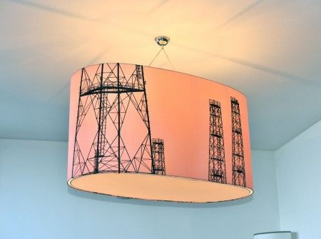 Cielo rosa, Pink Sky. One of the two lamps I designed for Paralumi Clood, Milan.