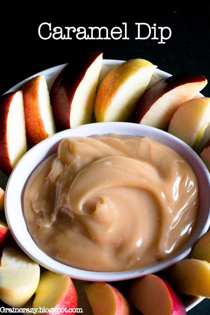 Grain Crazy: Clean Eating Caramel Dip (Low Sugar and Dairy Free) Only 4 ingredients. So fast and easy and good.