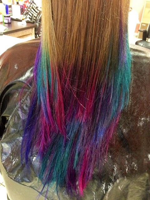 Okay, I keep pinning these colored hair ones, but here's one with straight hair! (so cool!) :)