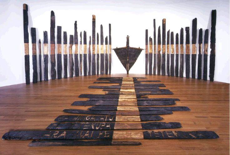 'Black phoenix', created by NZ artist Ralph Hotere in 1984.