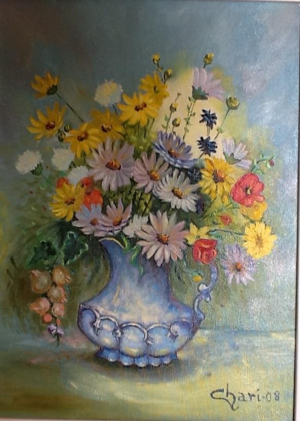 """""""Jarrón azul"""" (Copia de la pintora Lola Ades, pintora"""
