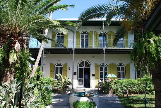 Hemingway's house in key west... if you get a chance, you should go!