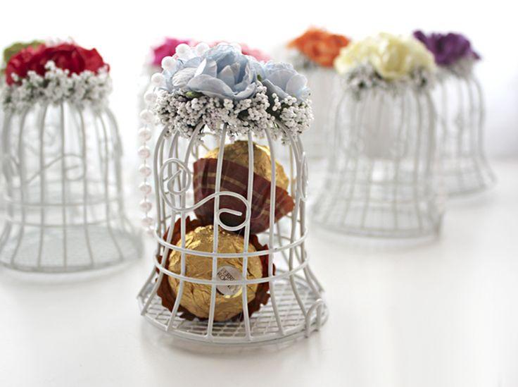 Новая горячая Белая птица Кейдж Свадьба Подарки Box Фавор Конфеты шоколадные Коробки партии Свадебные украшения сада Бесплатная доставка