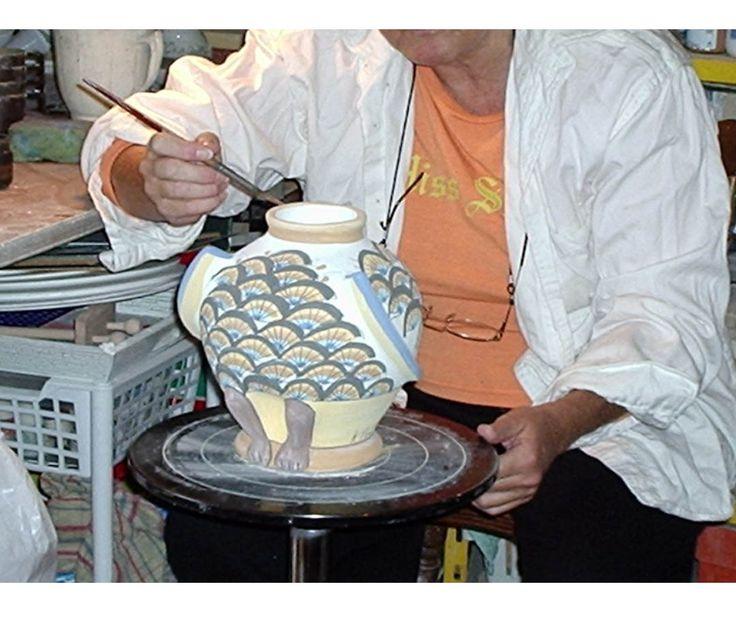Decorazione del corpo di una mia civetta in ceramica