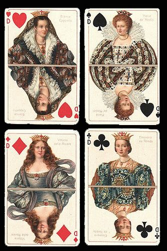 antique playing cards - nana and Grandy's diamond wedding anniversary...idea? Their faces on old cards&frame?: