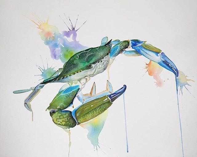 Gallery Of Friends On Instagram Artist Focus October 2020 Exhibit Title Claude The Crab Artist Josh Yurche The Ycreative B Art Artist Watercolor Paintings
